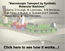 Macroscopic Transport by Synthetic Molecular Machines